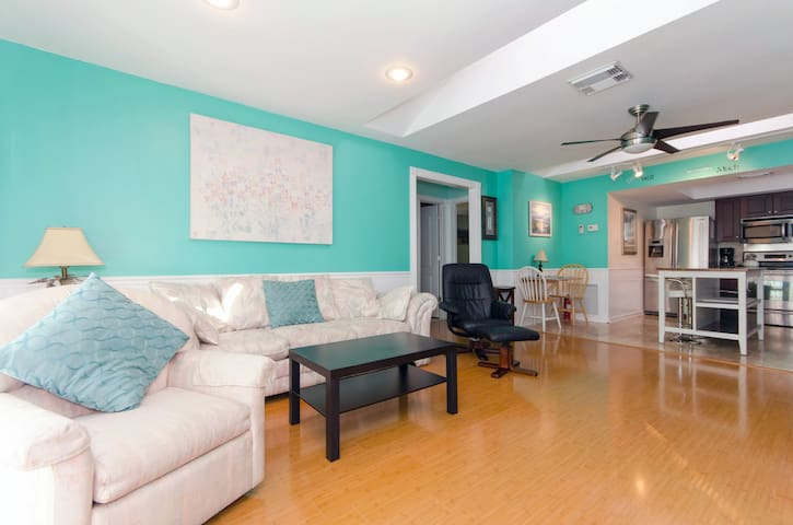 Bright Sunlit Living Room