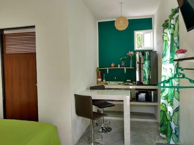 C. Cozy studio Cancun downtown, A/C, market 28