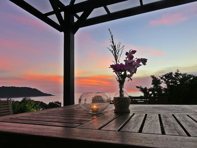 Enjoy Romantic Sunset Skies From Your Private Rooftop Sala