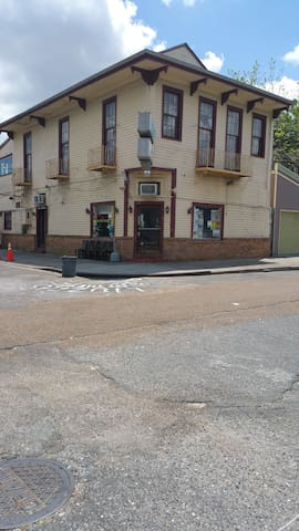 the famous Liuzza's restaurant across the street
