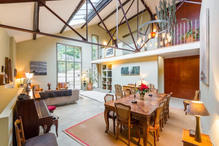 Loft 300 m2 with garden Old Town