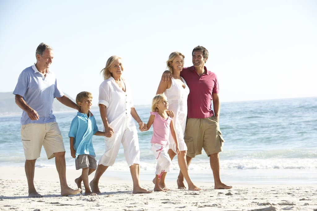 A great affordable beach close location to share precious moments with grandparents and grandchildren
