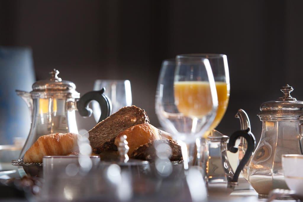 Le petit-déjeuner -brunch au Château de la Ballue : inoubliable...