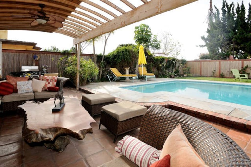 Perfect outdoor area to enjoy by the pool for guest staying with us only