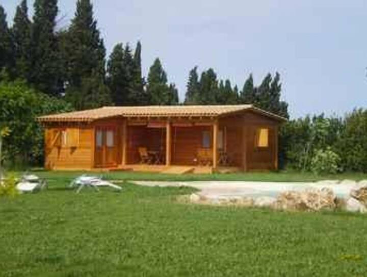 Habitación con porche