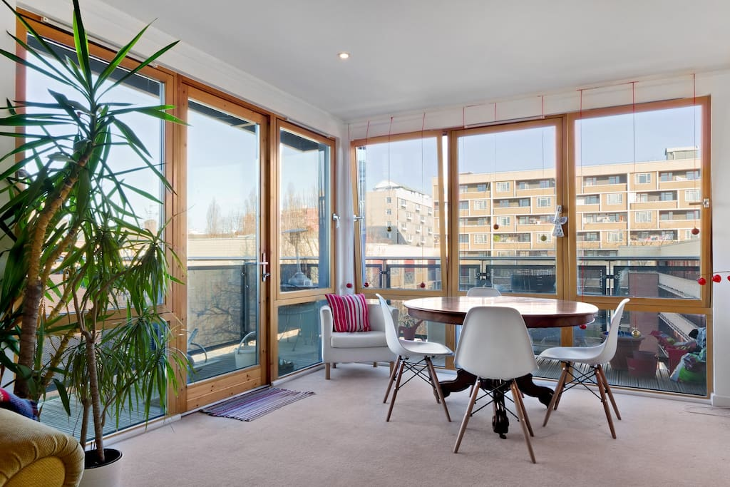 The full length double glazed windows are great for letting in the daylight.