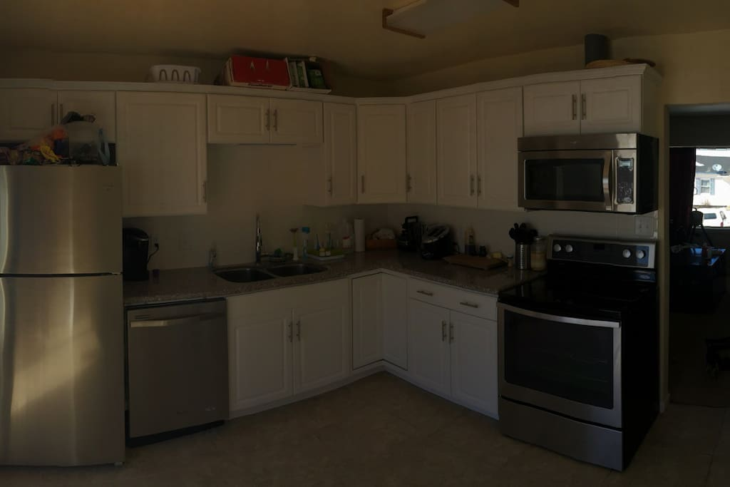 The Kitchen with all new appliances for cooking any meals!