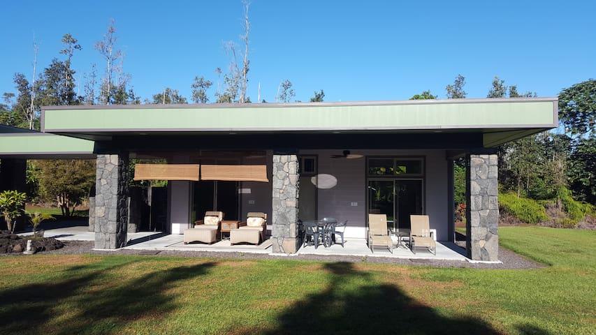 Rare Guest house on Tropical Acre - Keaau - Huis