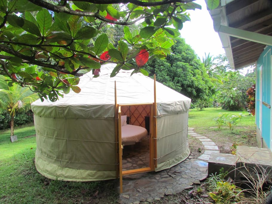 External view into Moon Yurt