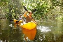 Enjoy miles of paddling at Riverbend Park just a short bike ride away