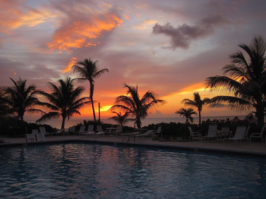 Sunrise at our pool!
