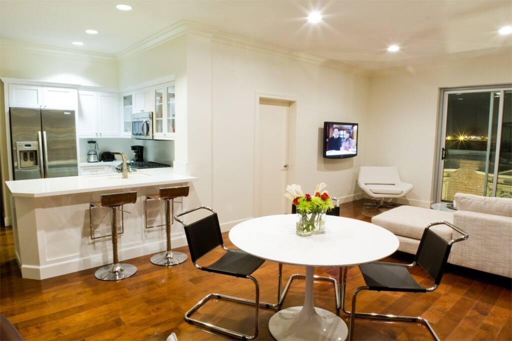 Open Area Kitchen / Dining area