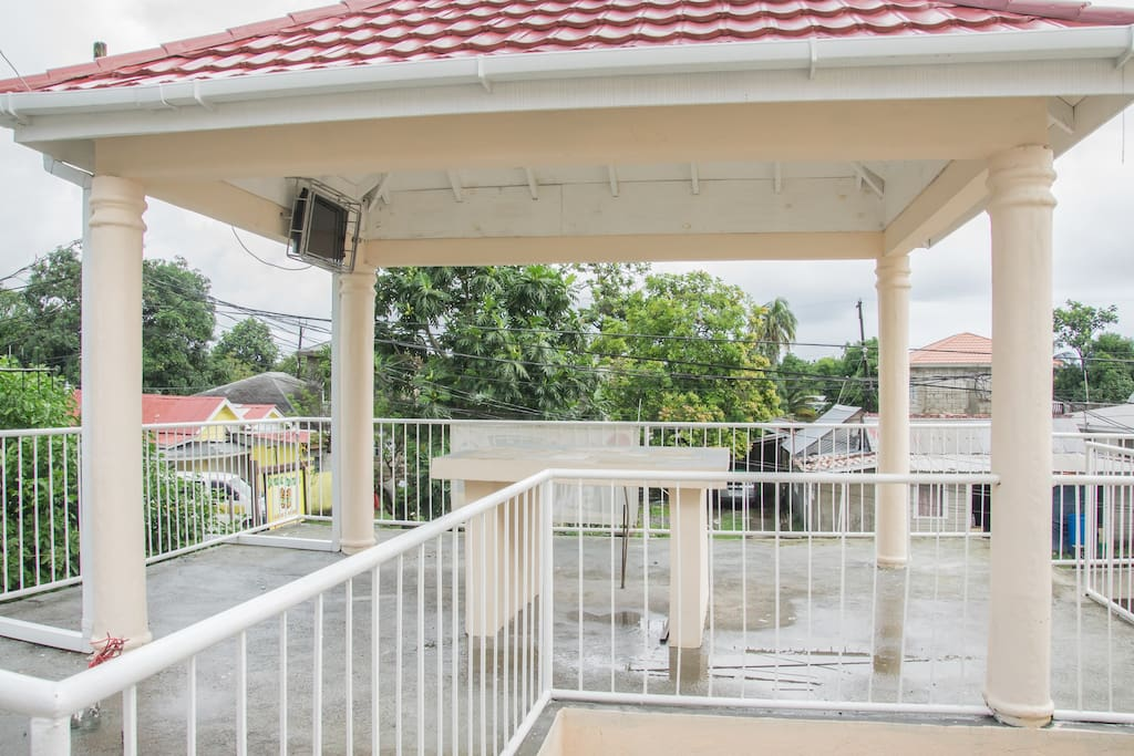 View of gazebo, ideal meeting place with friends.
