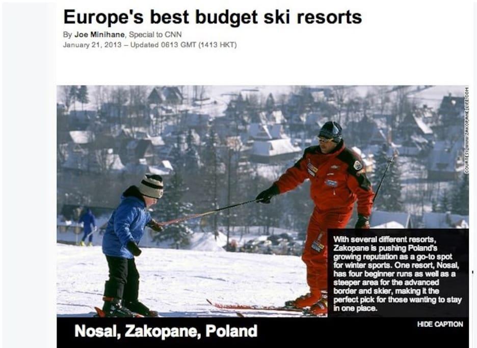 Walking distance to Europe's best budget ski resorts