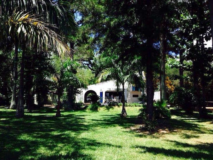 Casa sobre el lago Ypacarai