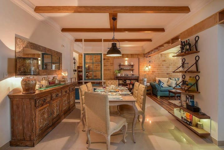 #Mid modern Century Farmhouse interior warm & cosy