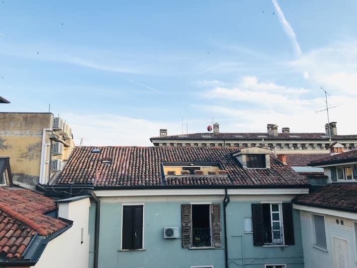 Luminosa Mansarda nel centro di Brescia