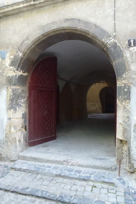 Entry to the building