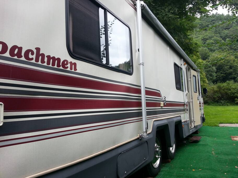 Huge 37 Foot Luxury RV with 7 foot ceiling.