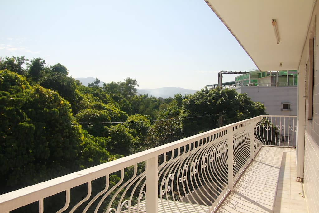 Large balcony with a relaxing view