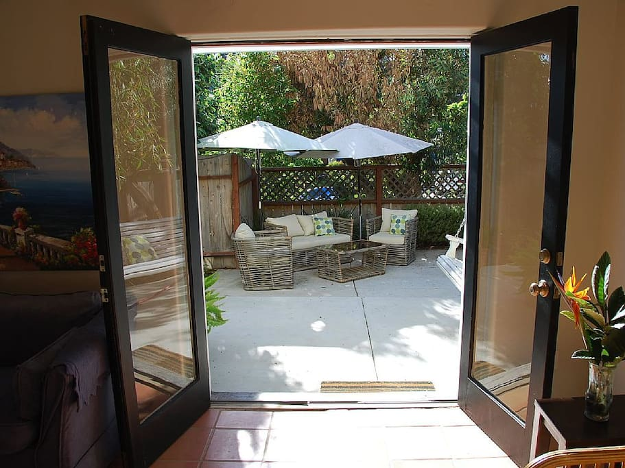 Furnished private patio