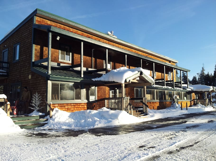 Tamarack Lodge at Bear Valley on Scenic Highway 4.  With 5 acres of land to explore.