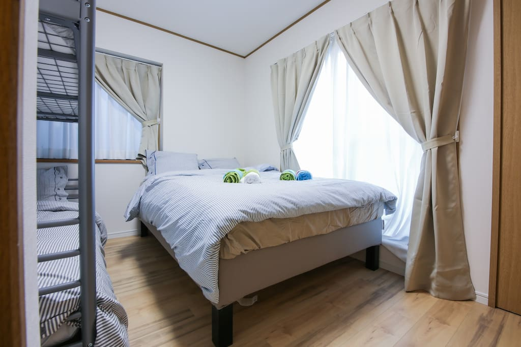 Bedroom 3: Double Bed and Bunk Bed (sleeps 4 total)