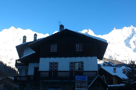 Skiing in Courmayeur Mont Blanc!! - Courmayeur - Appartamento