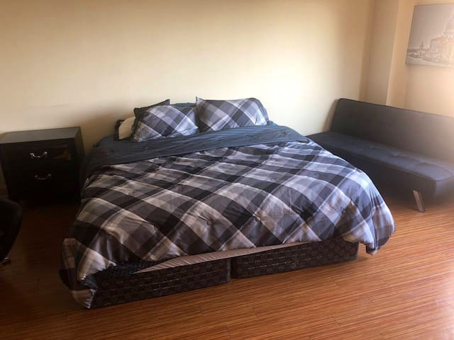King Size Bed Feels Like Your Sleeping On A Cloud! You Might Spend Your Whole Time Laying Down It Feels So Good!