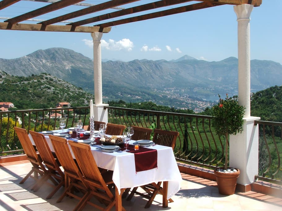 Top terrace with stunning panoramic views