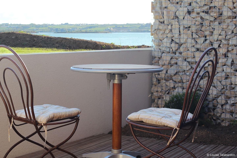 Terrasse privative plein sud avec vue mer