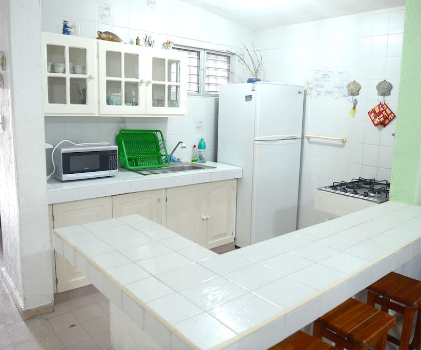 A well equipped kitchen so you can comfortably prepare food and enjoy it at home.