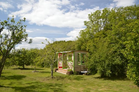 A rustic comfortable cabin in a beautiful orchard - Porchfield - Cabana