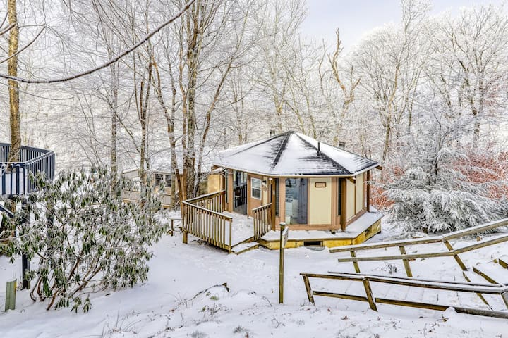 Easy ski access with this slope side home