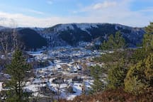 Hatland og Lonevåg en vinterdag
