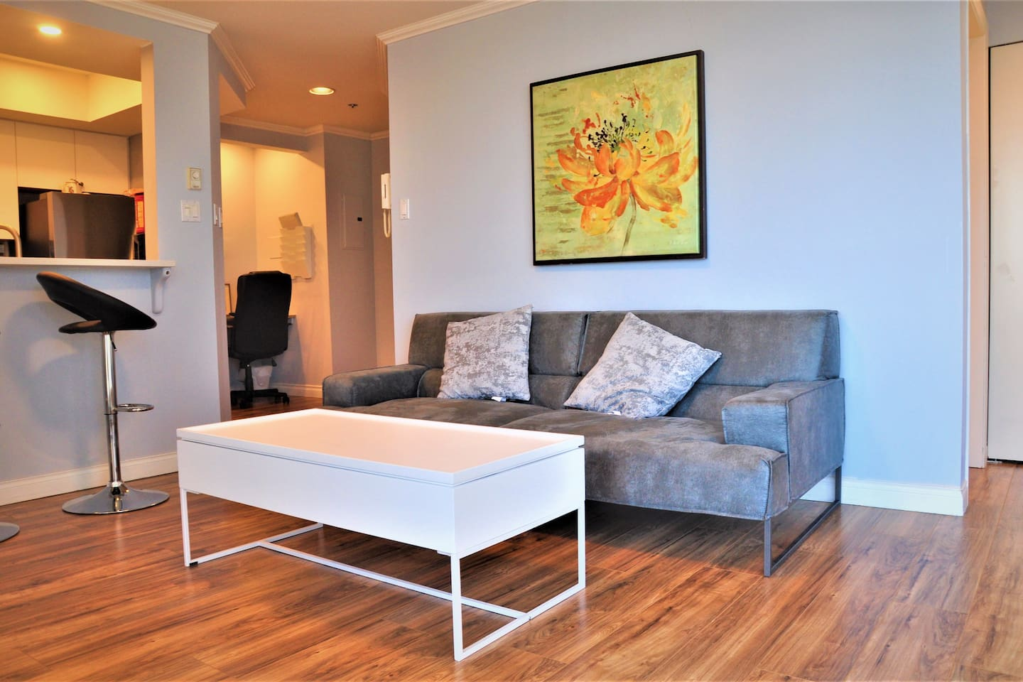 Living Room, Couch and Coffee Table from Structube.