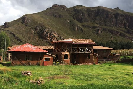 1 double size bed in peaceful country house - Cusco