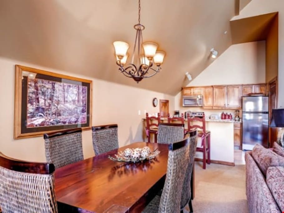 Entertain and dine at the large dining table.