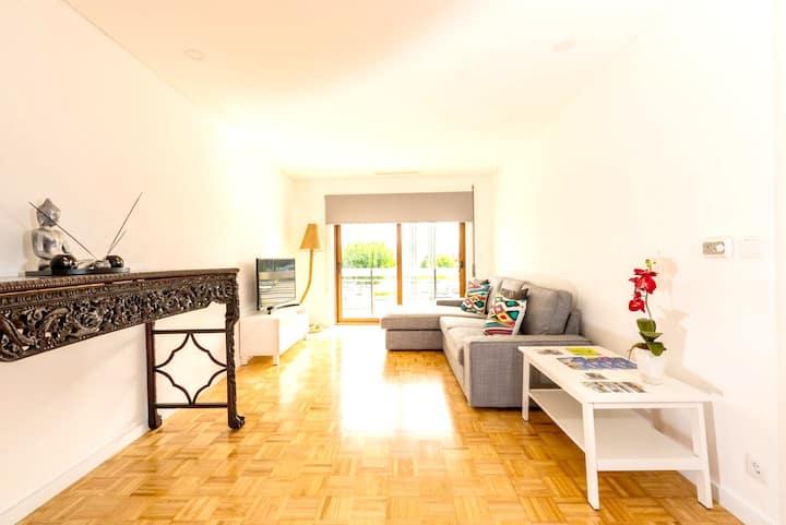 Apartamento de 3 habitaciones en Caminha, con balcón amueblado y WiFi - a 2 km de la playa