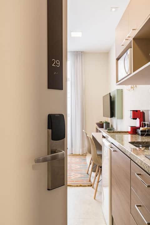 Apartamento confortável e charmoso.