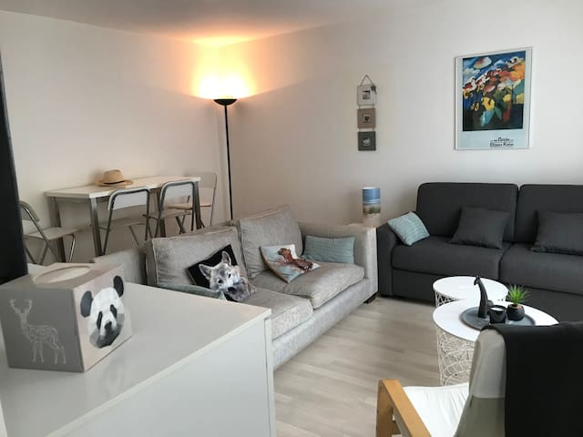 Lovely flat in the city center close to the beach