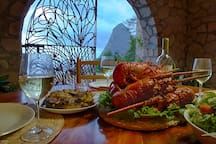 Fresh fish and a view fit for royalty make every dining experience special.