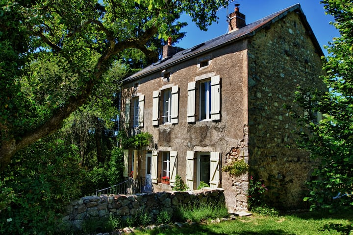 Stone Farmhouse in Burgundy's Morvan Nature Park