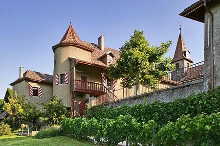 Belle suite au Château avec vue - Allaman - 성