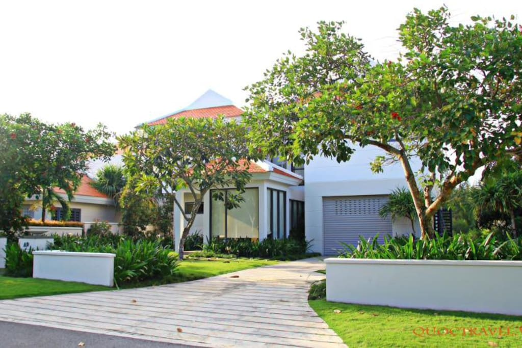 Villa has a private enhance and Garage for free parking