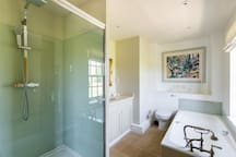 Ensuite to Bedroom 2 (bath and shower)