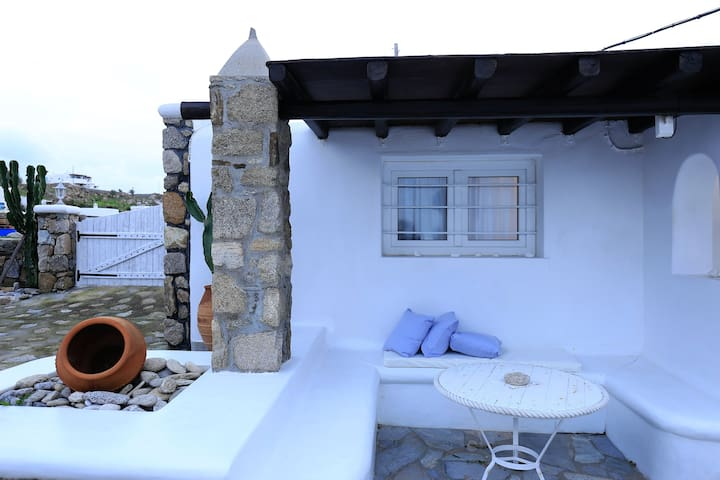 Best Location Cycladic House,Beach+Town+BusStation