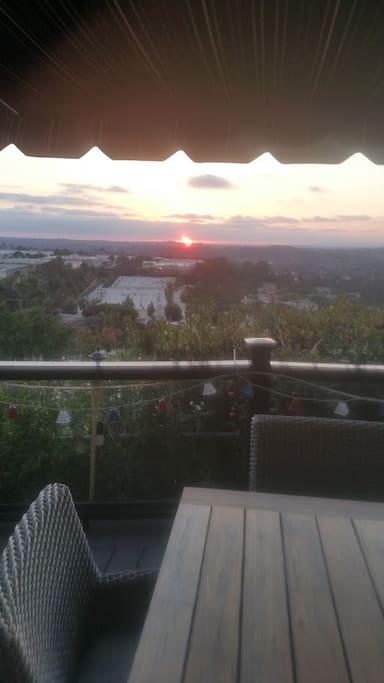 We enjoy beautiful sunsets!!