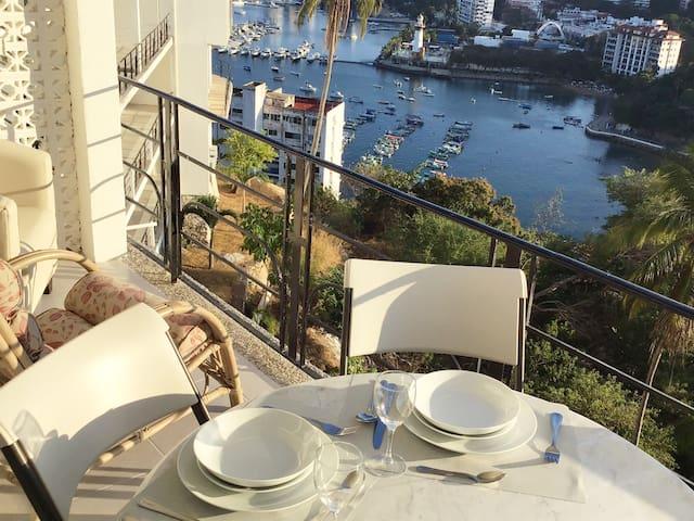 Depto completo de lujo con terraza en Casa blanca