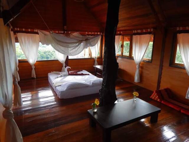 Baan Rao Bed & Breakfast - Seaview double bed room - Ko Lanta Yai - Bed & Breakfast
